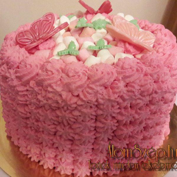 Rózsaszín csokitorta