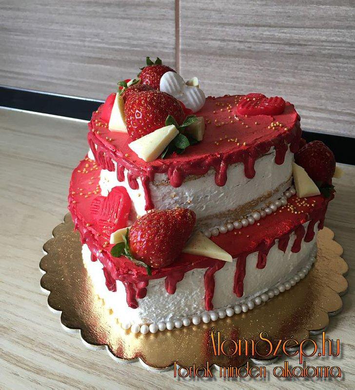 Csokis epres szerelem-torta